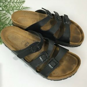 Birkenstock Florida Sandals In Black Size 39